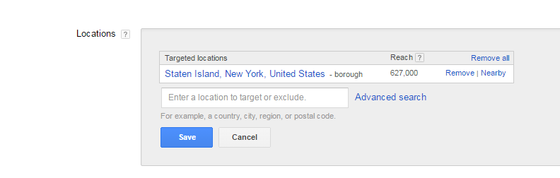 AdWords Location Settings For Psychologists
