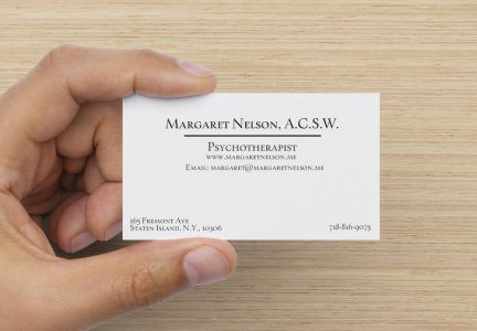 PsychoTherapist Business Card Example