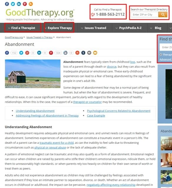 Goodtherapy abandonment post example